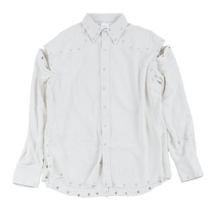 SILVER BUTTON SHIRT W