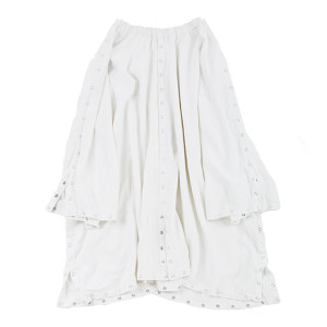 SILVER BUTTON SKIRT W