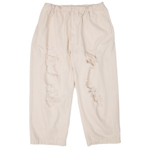 DAMAGED PANTS BEIGE