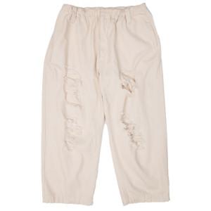 DAMAGED PANTS BEIGE