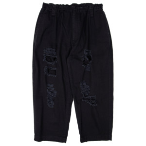 DAMAGED PANTS BLACK