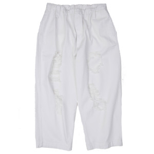 DAMAGED PANTS WHITE