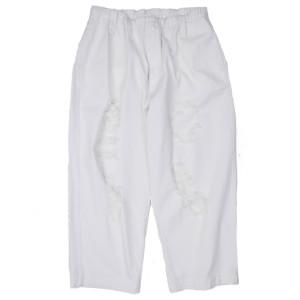 DAMAGED PANTS WHITE