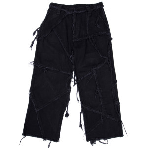 PATCHED PANTS BLACK