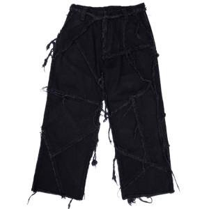PATCHED PANTS BLACK