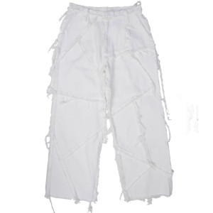 PATCHED PANTS WHITE