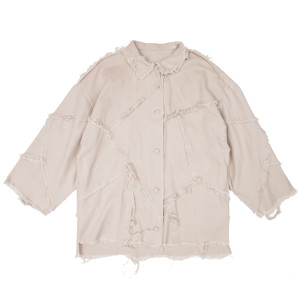 PATCHED SHIRT BEIGE