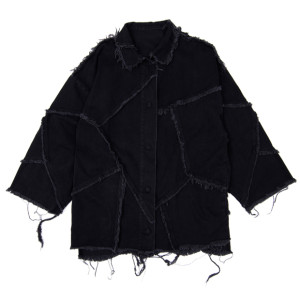 PATCHED SHIRT BLACK