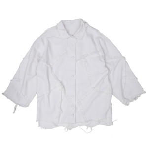 PATCHED SHIRT WHITE