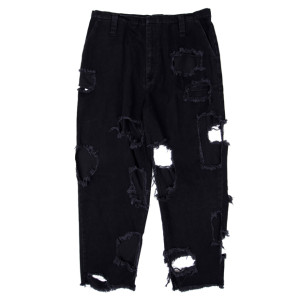 SUPER DAMAGED PANTS BLACK