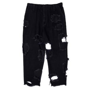 SUPER DAMAGED PANTS BLACK