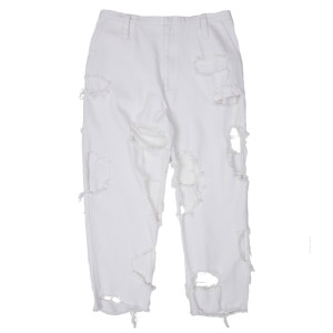 SUPER DAMAGED PANTS WHITE