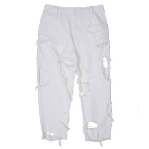 SUPER DAMAGED PANTS WHITE